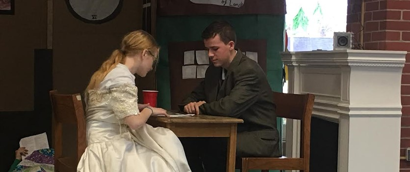 A Christmas Carol Revisited Two 7th grade ELA classes recently combined efforts to bring this classic to life.