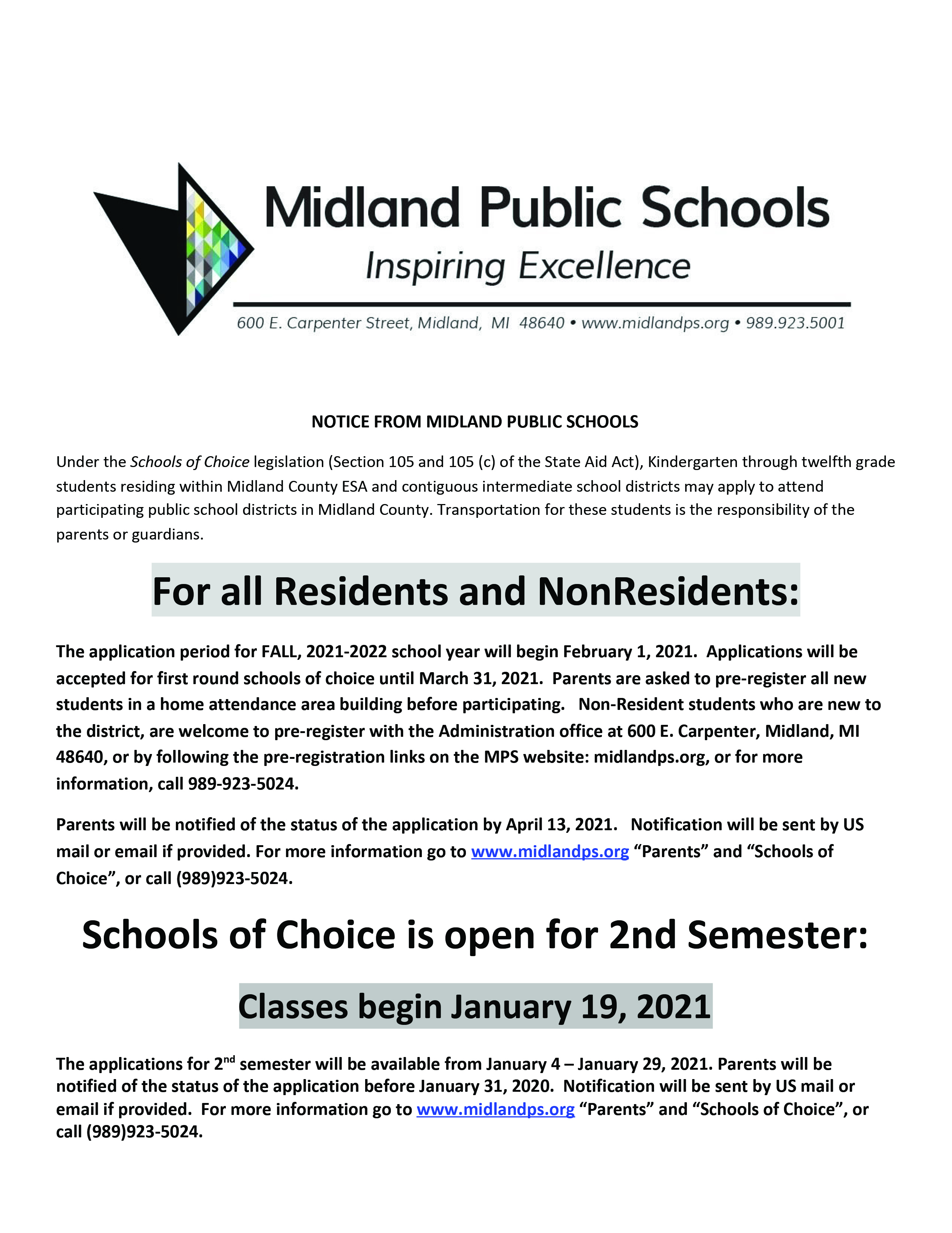 School Of Choice Flyer