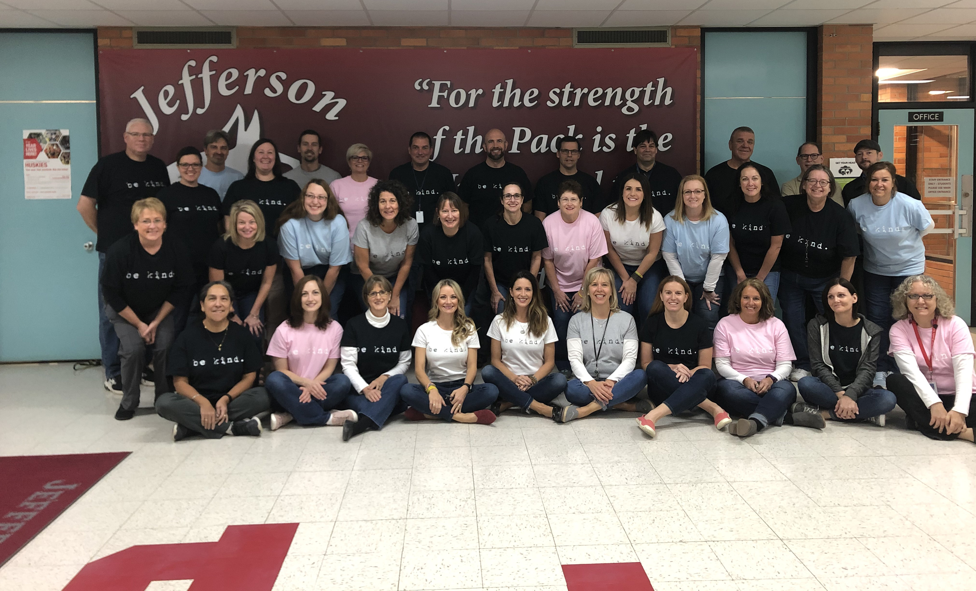 Staff at Jefferson Being Kind