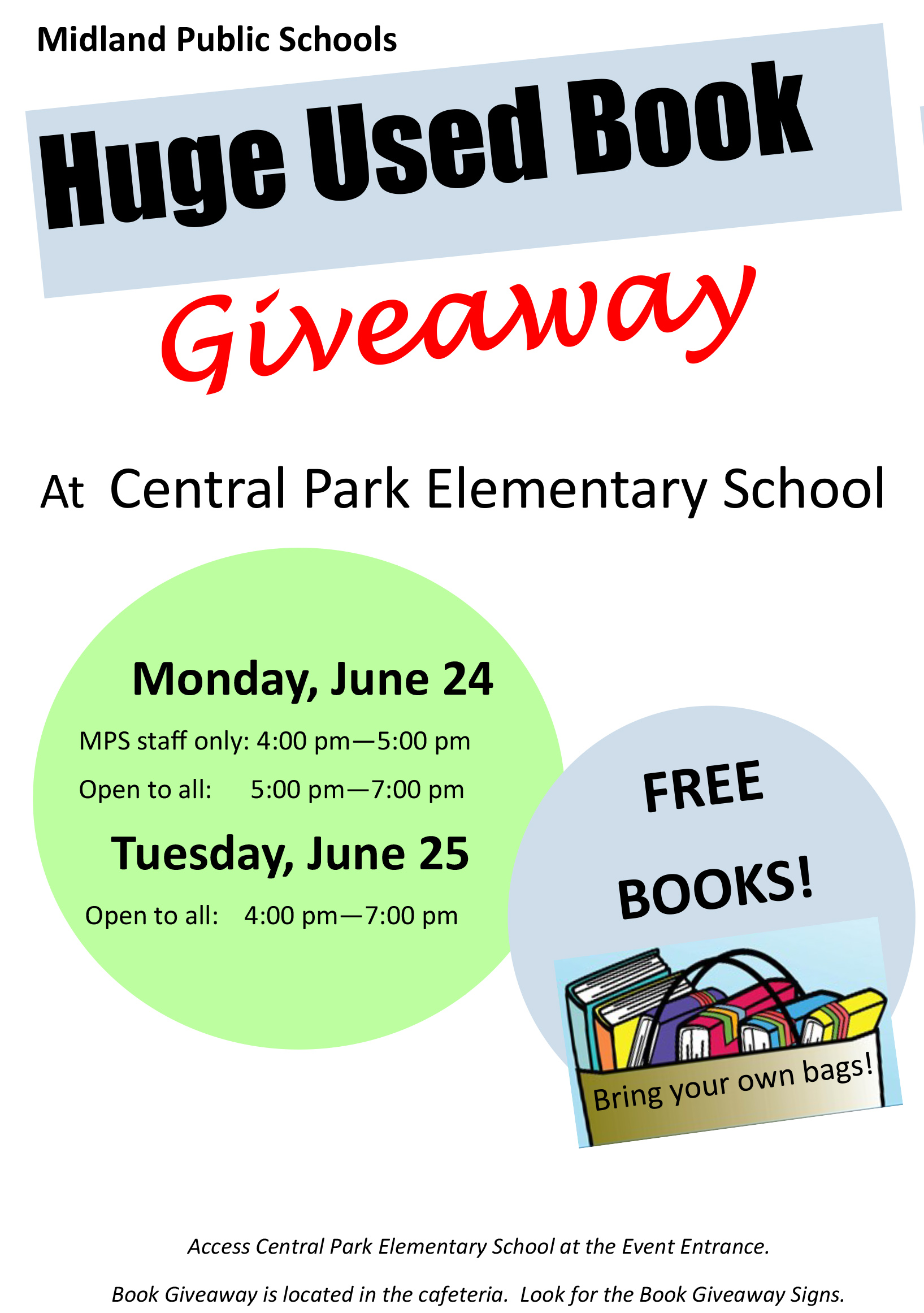 huge book giveaway flyer